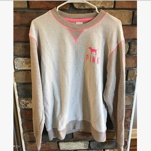 Victoria's Secret PINK Taupe Crew Neck Sweater